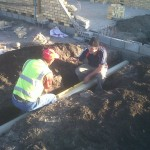 Brian and Angus start on the drainage....