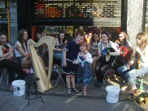 Busking in Galway